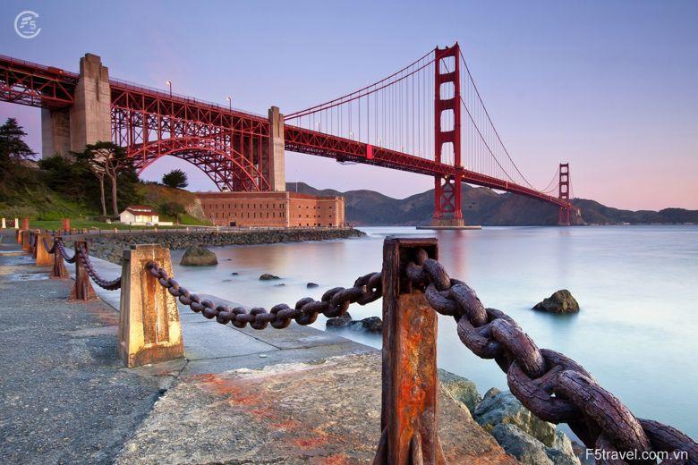 Usa san franciso golden gate1 780x520 - Tour du lịch khám phá vẻ đẹp từ Tây sang Đông của nước Mỹ
