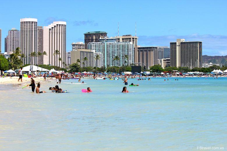 Usa hawai waikiki 780x520 - Khám phá du lịch thiên đường biển xanh HAWAII
