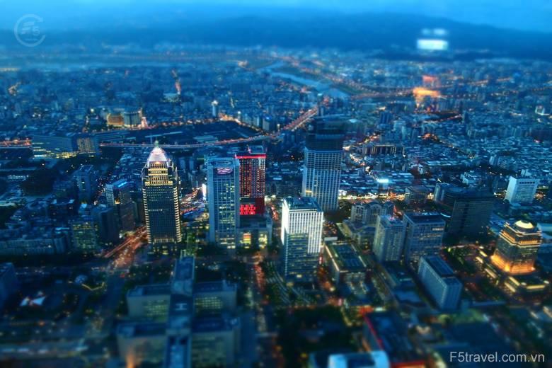Taiwan taipei night view city 780x520 - Tour du lịch mùa thu tại Đài Loan: Đài Bắc - Cao Hùng - Đài Trung