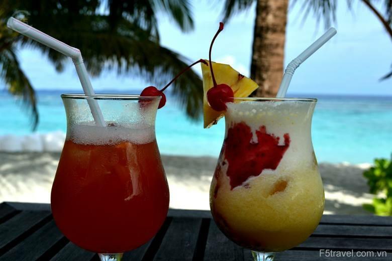 maldives cocktails 780x520 - Thiên đường nghỉ dưỡng Maldives 05N04Đ (Hàng không Singapore Airlines - resort 4 sao)
